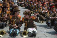 Корейские военнослужащие во время парада.