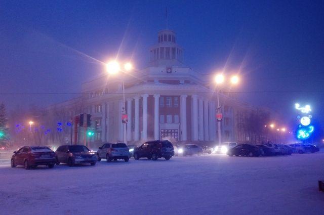 Утром в областной столице было -39 градусов по Цельсию.