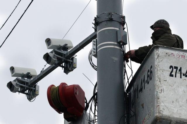 В Омской области определили места, где установят камеры фиксации нарушений ПДД.