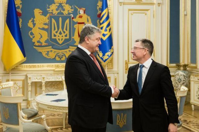Представитель Госдепа США Волкер обсудил с Порошенко реинтеграцию Донбасса