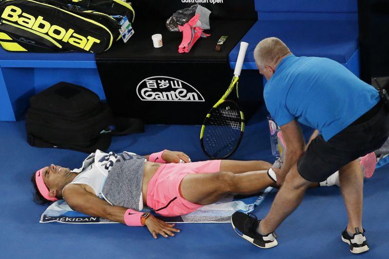 Испанец Рафаэль Надаль получил травму во время матча против хорватского теннисиста Марина Чилича.