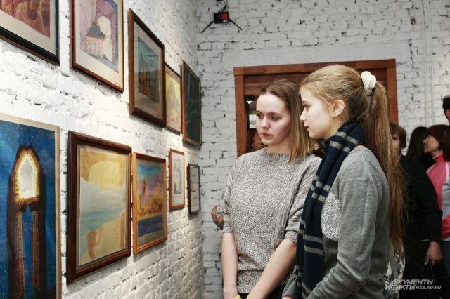 На открытии были друзья, ученики и поклонники таланта художника