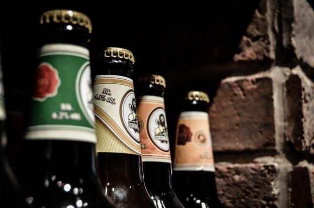 Импортное пиво было без информации на русском языке.