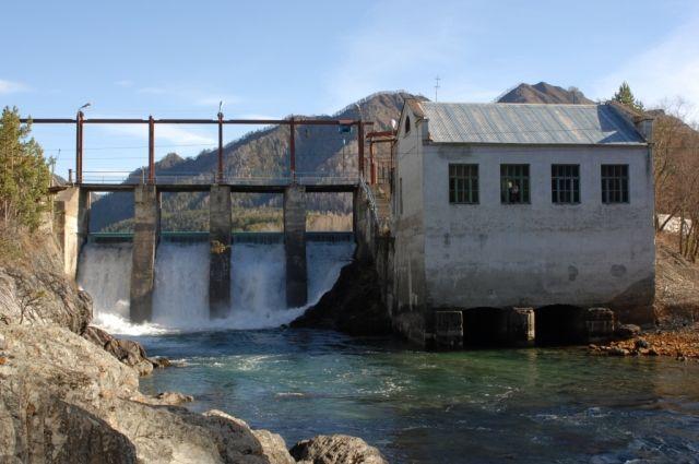 Чемальская ГЭС до наводнения- 2014 года