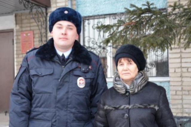 Гражданка поблагодарила полицейского за помощь