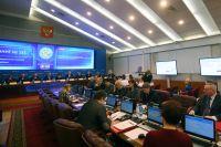 Заседание Центральной избирательной комиссии РФ по выборам президента РФ 2018 года.