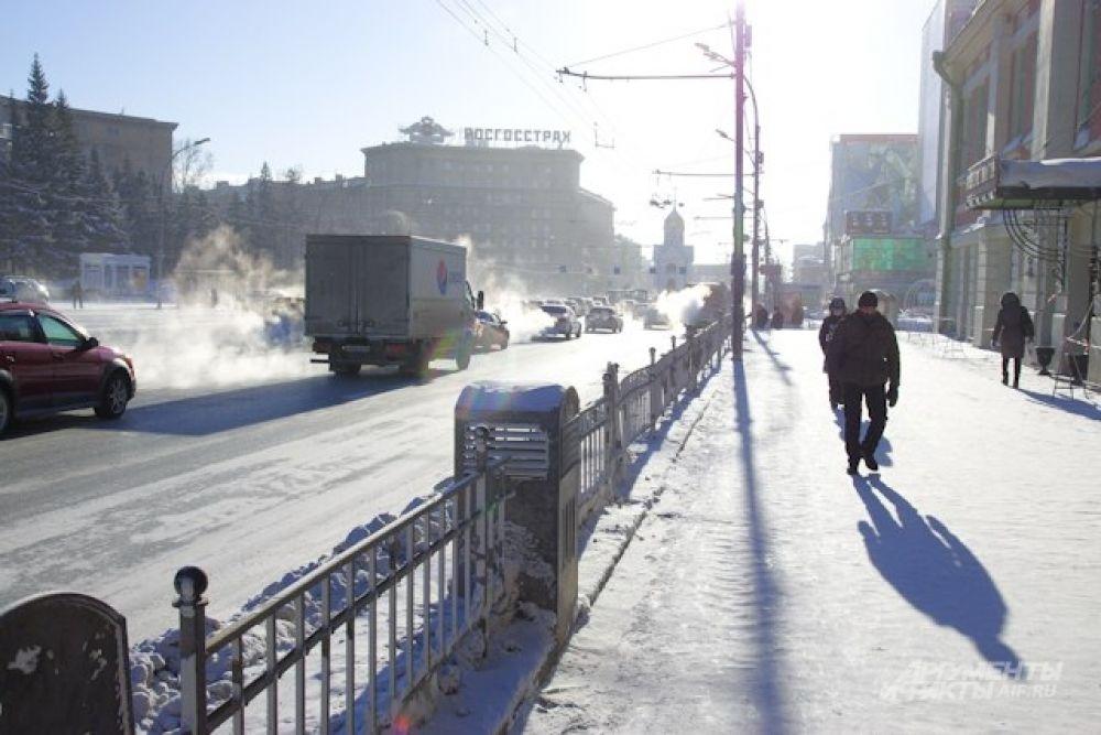 После обеда в пятницу морозы дали горожанам небольшое послабление, но в субботу вечером на термометре снова почти - 30.
