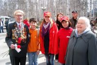Празднование Дня Победы в Ханты-Мансийске.