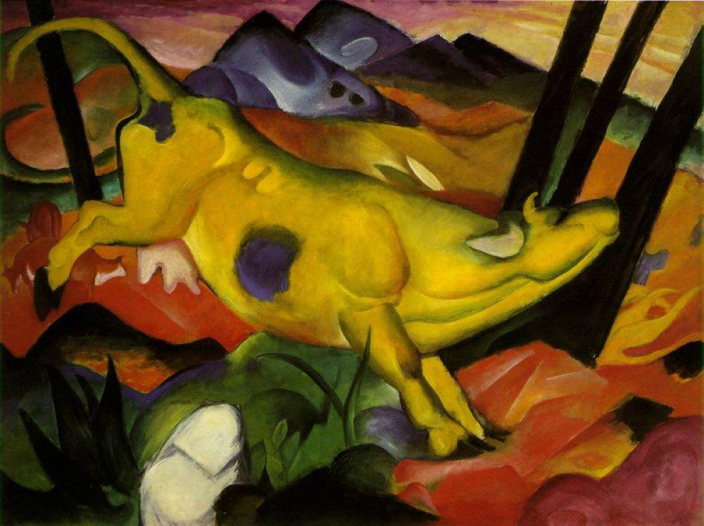 «Желтая корова», 1911 год.