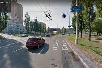 Проспект Героев Сталинграда в Киеве.