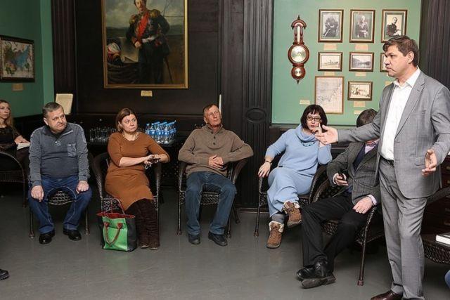 Встреча главы города с прессой прошла в знаковом зале истории края.