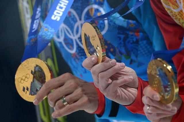 Медали российских спортсменов на ОИ-2014 в Сочи.