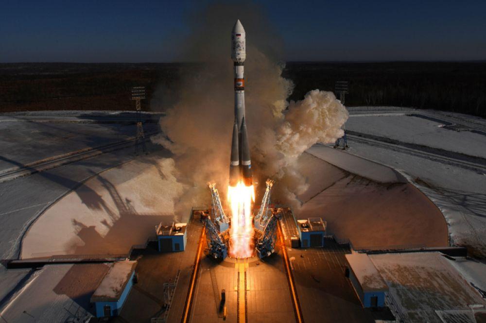 Старт ракеты-носителя «Союз-2.1а» с космодрома «Восточный».