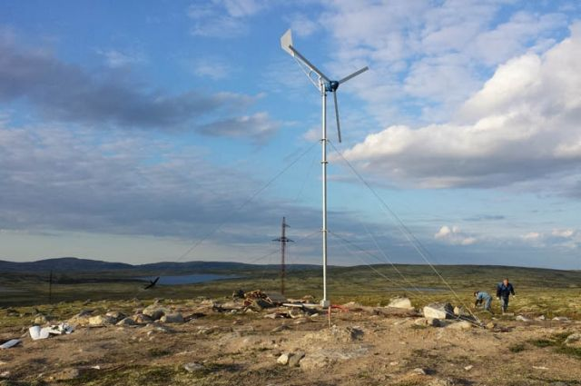 Арктика – подходящее место для использования энергии ветра.