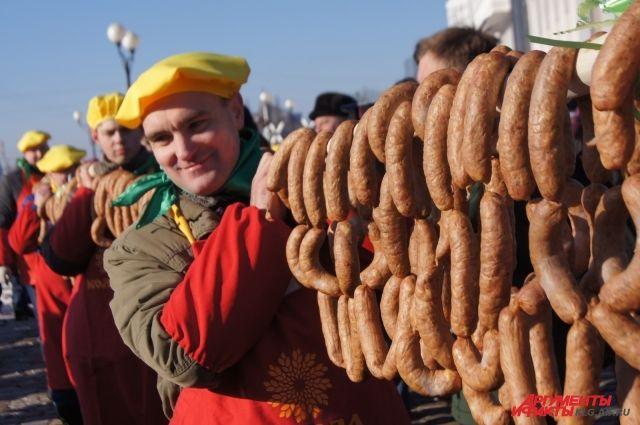 Калининградские мясники изготовят колбасу диаметром в 90 сантиметров.