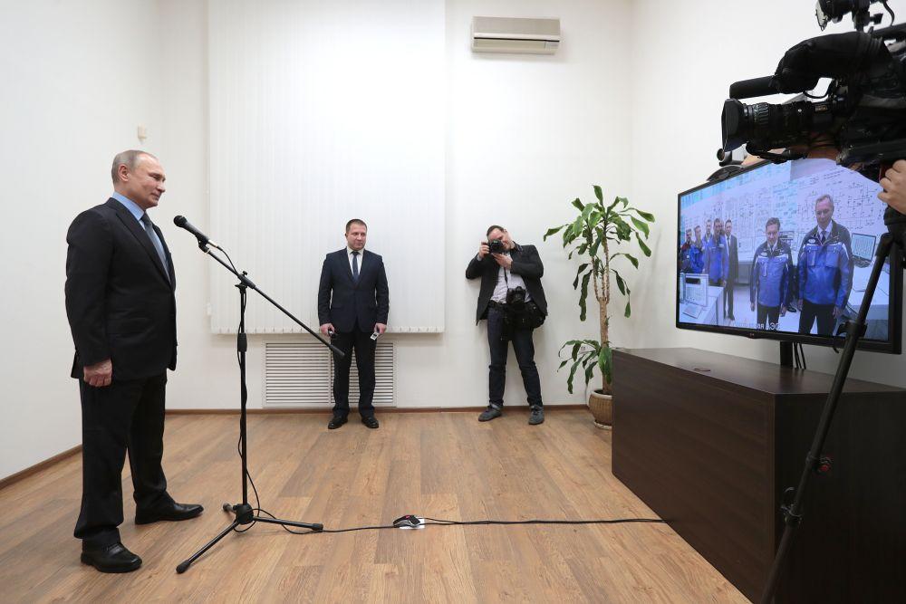 Владимир Путин запустил 4-й блок Ростовской АЭС
