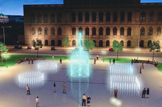 Возле бывшей кёнигсберской биржи появится светомузыкальный фонтан.