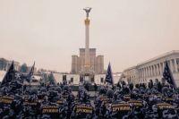 Марш «Национальных дружин» в Киеве.