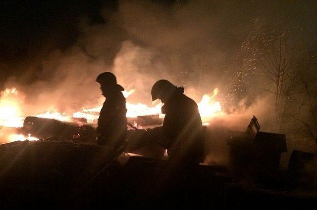 Дом, где содержались собаки, полностью сгорел.