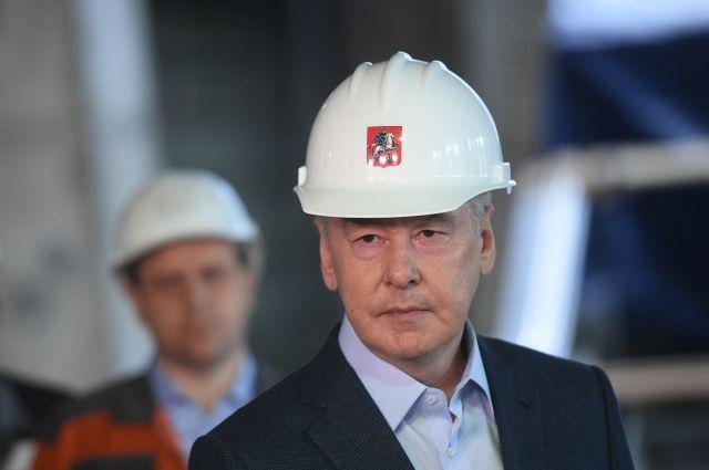 Собянин осмотрел ход возведения станции метро «Юго-Восточная»