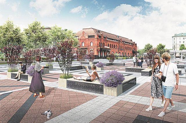 Будущая площадь Ленина и территория вокруг глазами архитекторов.