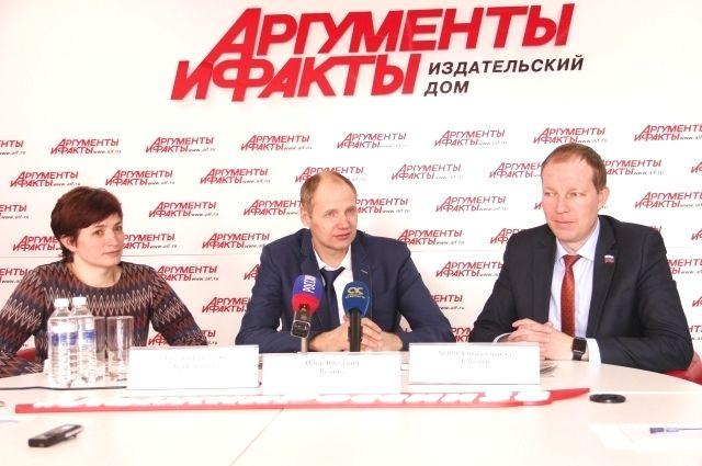 Участники пресс-конференции.