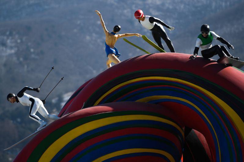 Скульптурная композиция Сonnected one в Олимпийском парк Хвэнге в Пхенчхане.