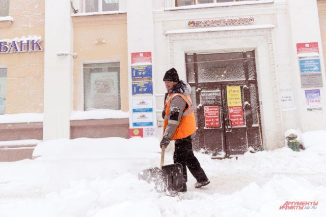 ВТатарстане осужденные без лишения свободы привлекаются куборке снега