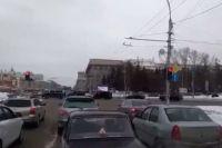Картеж был замечен на Бердском шоссе и в центре города.