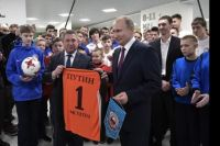 Президент встретился с юными футболистами «Тотема».