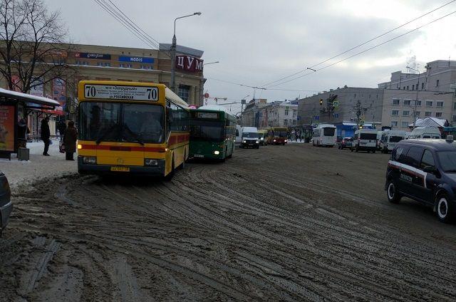Женщина упала в автобусе
