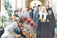 Патриарх Кирилл в Центральной клинической больнице святителя Алексия.