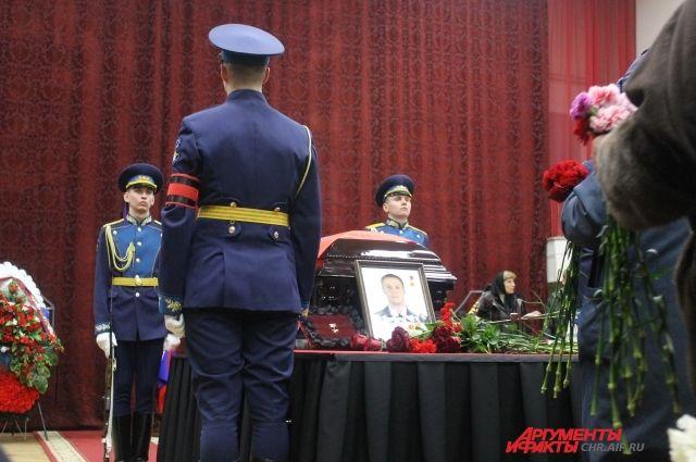Церемония прощания с летчиком Романом Филиповым.