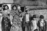 Хорватские цыгане в Аграме, 1941 г.
