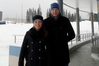 Регина Рахимова со своим тренером Михаилом Киреевым.