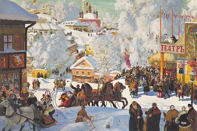 Борис Кустодиев – Масленица, 1919 г.