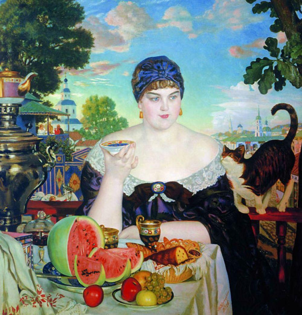 «Купчиха за чаем» (1918).