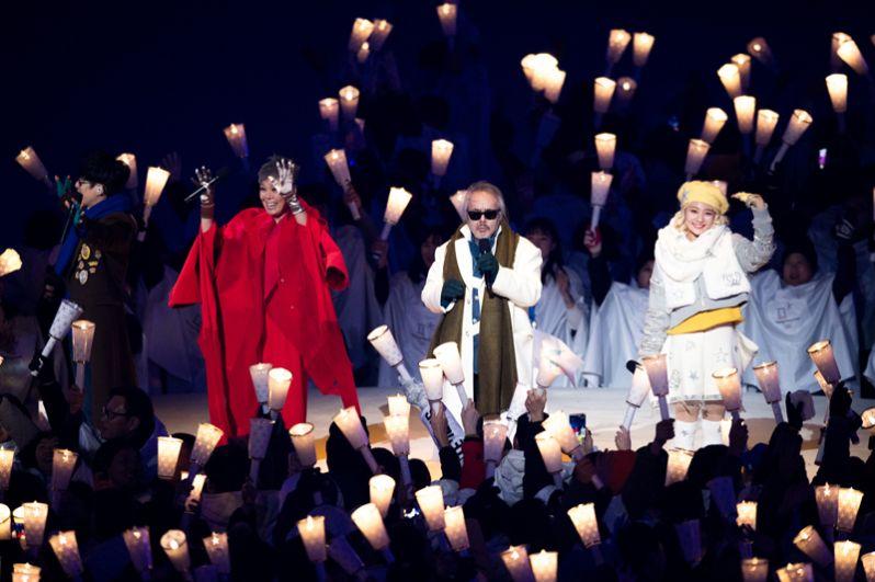 Музыканты во время церемонии открытия.