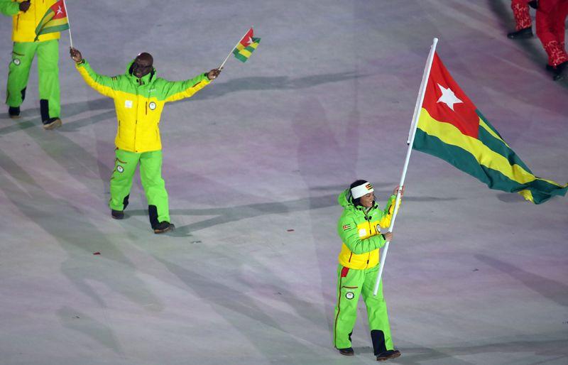Того. Страна во второй раз в истории участвует в зимних Олимпийских играх и вновь страну представляют горнолыжница Алессия Афи Диполь и лыжница Матильда-Амиви Петижан.