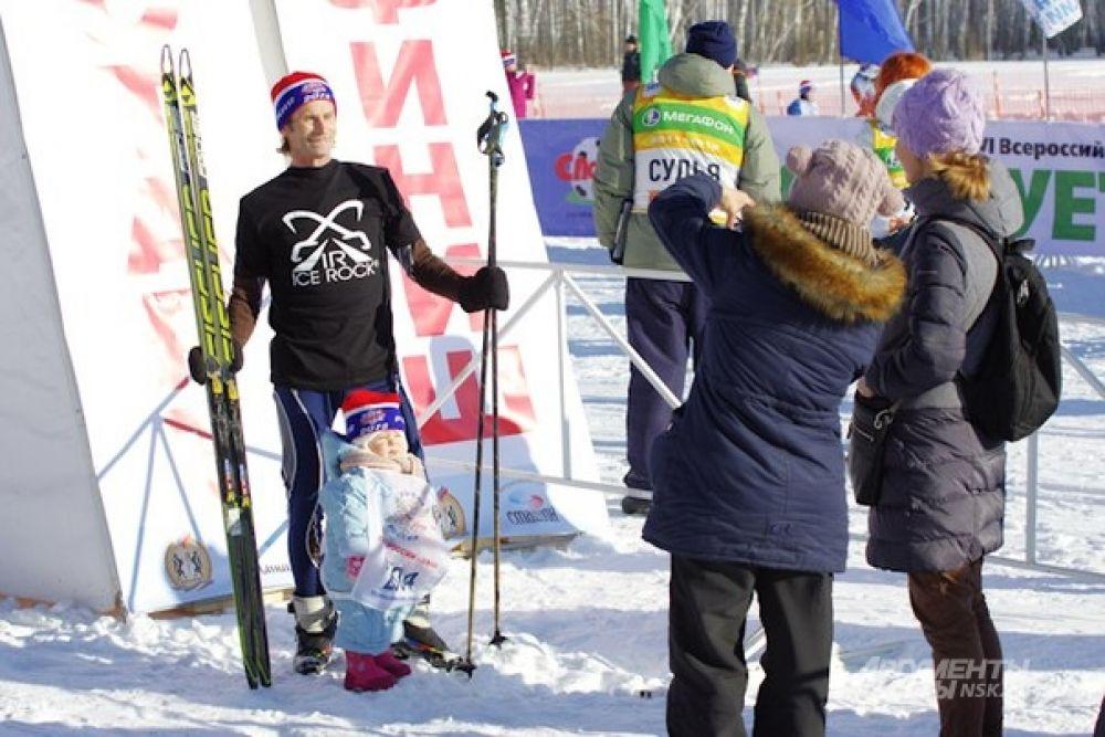 Пока есть время - фото на память перед лыжной гонкой.