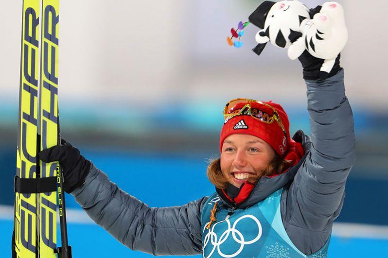 Немецкая биатлонистка Лаура Дальмайер выиграла золото в спринте.