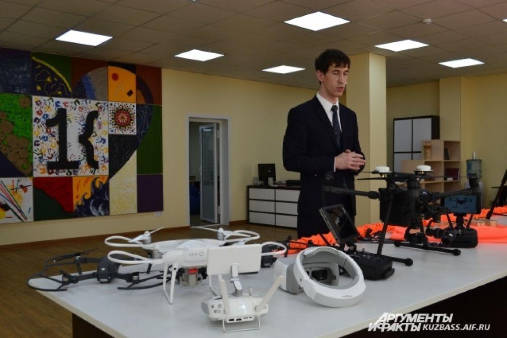 В Кемеровской области более перспективно использовать дроны в угольной и аграрной сфере. Промышленный коптер с помощью тепловизера может увидеть очаг возгорания, проанализировав разницу температур.