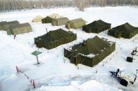 Лагерь оснащён всем необходимым для бесперебойной работы спасателей.