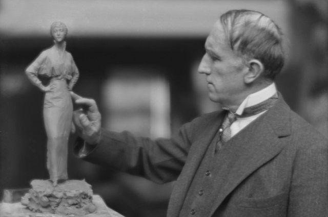 Паоло Трубецкой в США. Фото Арнольда Генте из Библиотеки Конгресса США, отдел эстампов и фотографий.
