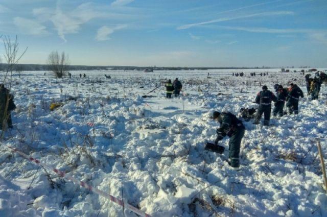 На месте крушения Ан-148 найдено свыше 1400 фрагментов тел погибших
