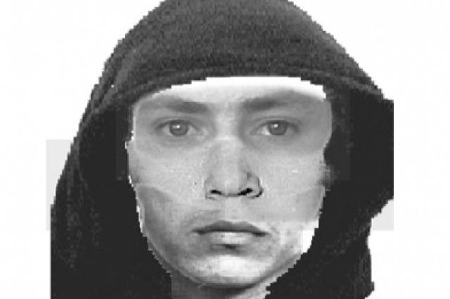 Полиция распространила фоторобот подозреваемого.