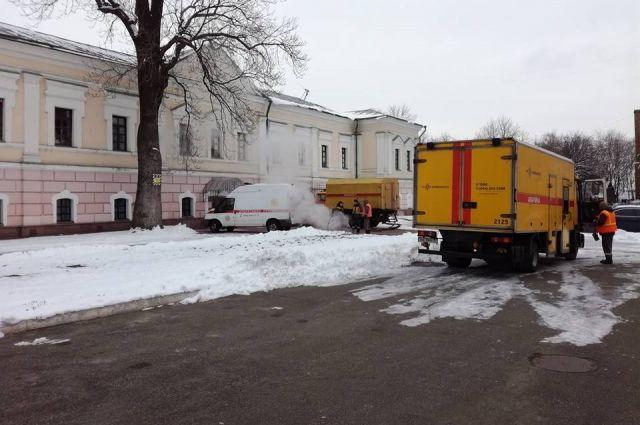 В Киеве музей народной культуры затопило горячей водой