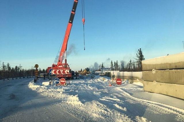 Дорожники отметили, что разборка мостовых конструкций завершена.