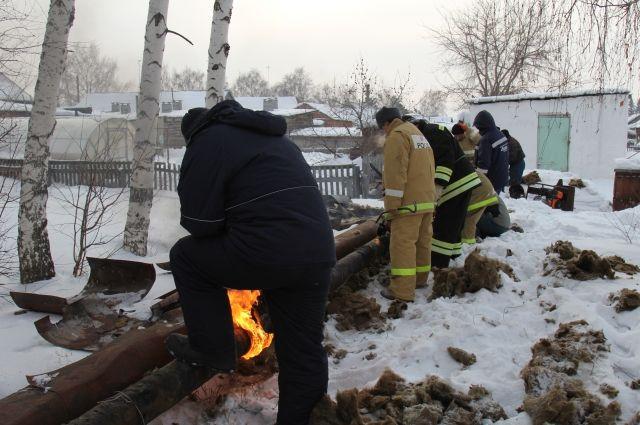 Аварийные работы в селе Кусак.