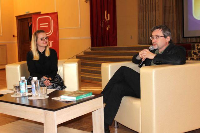 Валерий Федоров на встрече в Курске.